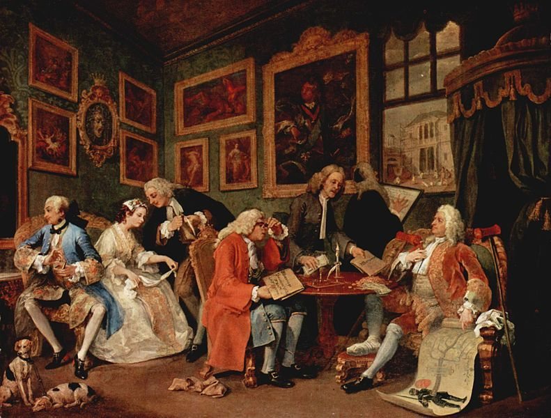 William Hogarth Marriage  La Mode The Marriage Contract Or The