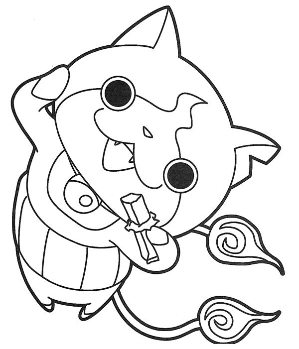 Color page watch yokai jybanian 01 poids pinterest for Watch coloring page