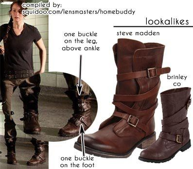 ecf606f561e Katniss s boots in the Arena! I m going to have to get some of these! Steve  Madden - Banddit boot