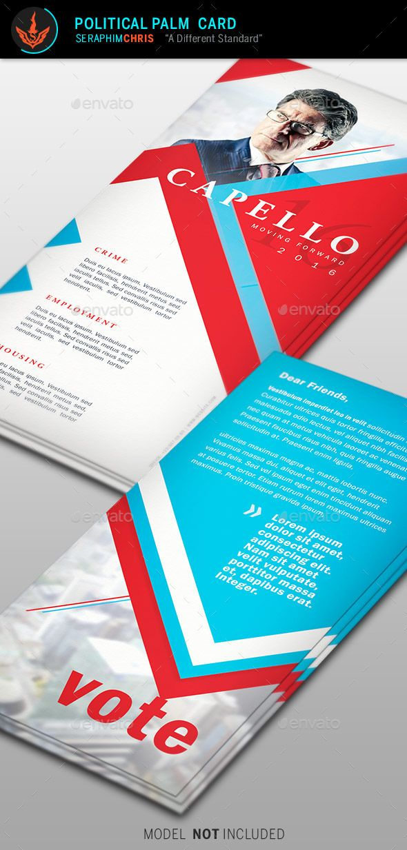 Political Palm Card Template   Card Templates Palm And Layouts