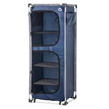 Spinifex Easy Up 5 Shelf Camp Cupboard Blue Anaconda Camp Furniture Camping Storage Cupboard