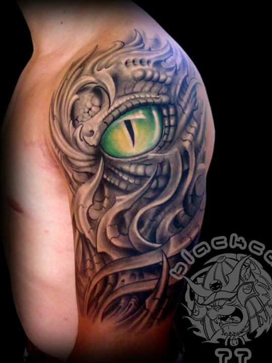 16fe7d479b644 BIO TATTOO | bull tattoos | Biomechanical tattoo, Bull tattoos ...