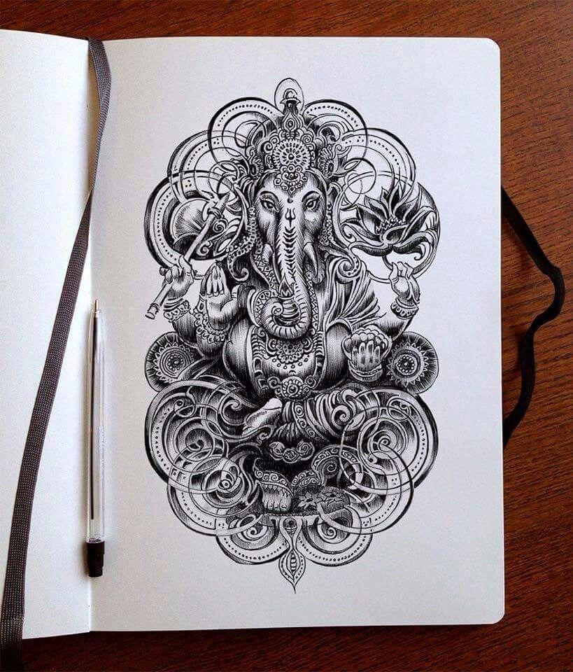 klein Tatuaggi elefante, Tatuaggi indù, Idee per