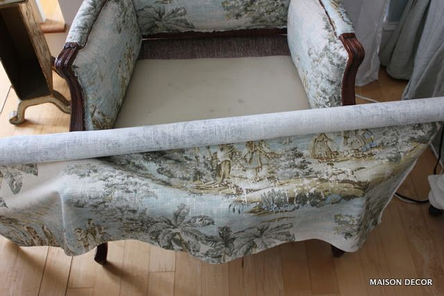 Maison Decor: How to Reupholster the Easy Way: My French Chair