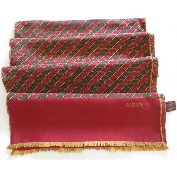gucci, scarf, foulard écharpe gucci, soie made in Italy, sciarpa gucci, ec82570731e