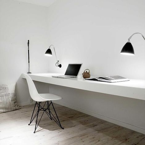 There S Something About A Long Desk Home Office Design