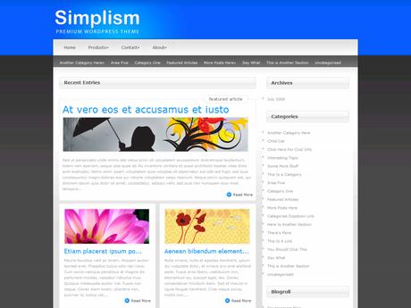 Simplism WordPress Theme For Persional blog