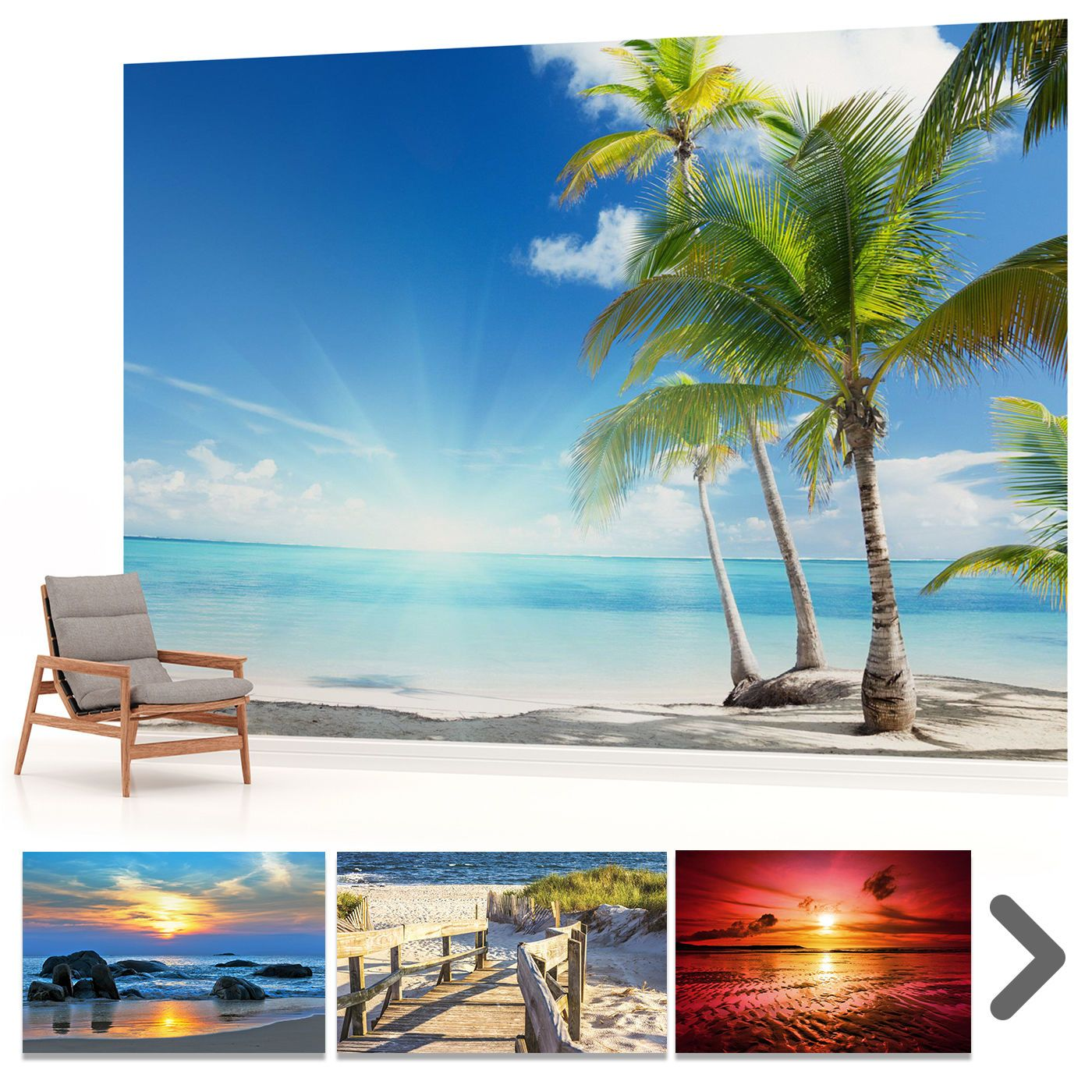 FOTOTAPETE WANDBILD FOTOTAPETEN BILD TAPETE Strand Meer Sonnenuntergang  VLIES VE   EUR 29,90. Finden Sie Tausende Wunderschöne Fototapeten,  Tapeten, ...