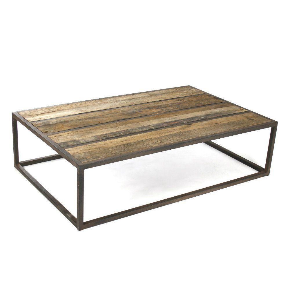 Liesbeth Coffee Table Coffee Table Metal Frame Oak Coffee Table Iron Coffee Table