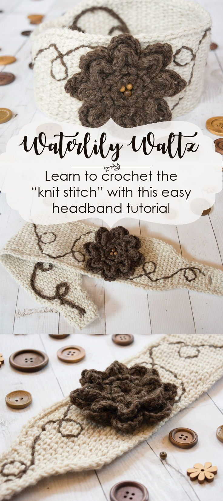 Follow this free diy crochet headband tutorial and learn how to follow this free diy crochet headband tutorial and learn how to crochet the knit stitch or waistcoat stitch the knit look fabric is warm and cozy baditri Image collections
