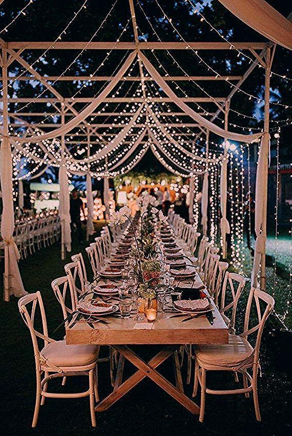 Warme weiße Feen-Schnur beleuchtet | Etsy #weddingideas - Bild+ - Dream wedding - Mike Blog