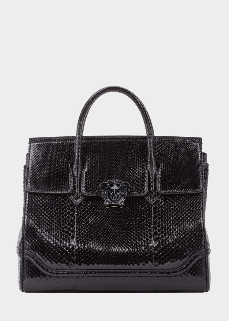 dd90442a3e99 Python Palazzo Empire Bag from Versace Women s Collection. Dual-carry style  bag from the Palazzo Empire line crafted in luxurious