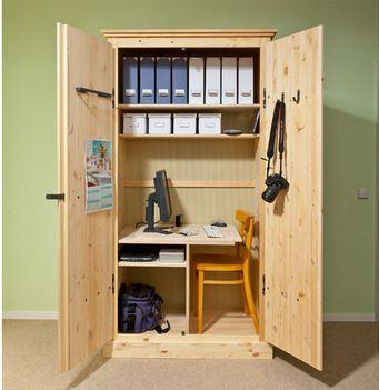 Arbeitsplatz kleines Büro im Schrank Kleine zimmer