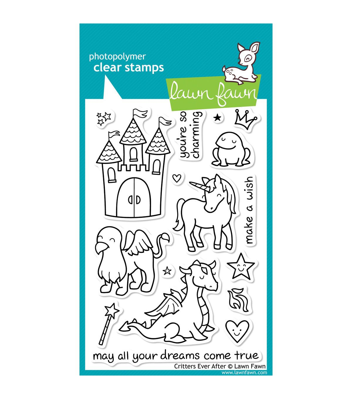Critters Ever After Lawn Fawn Clear Stamp