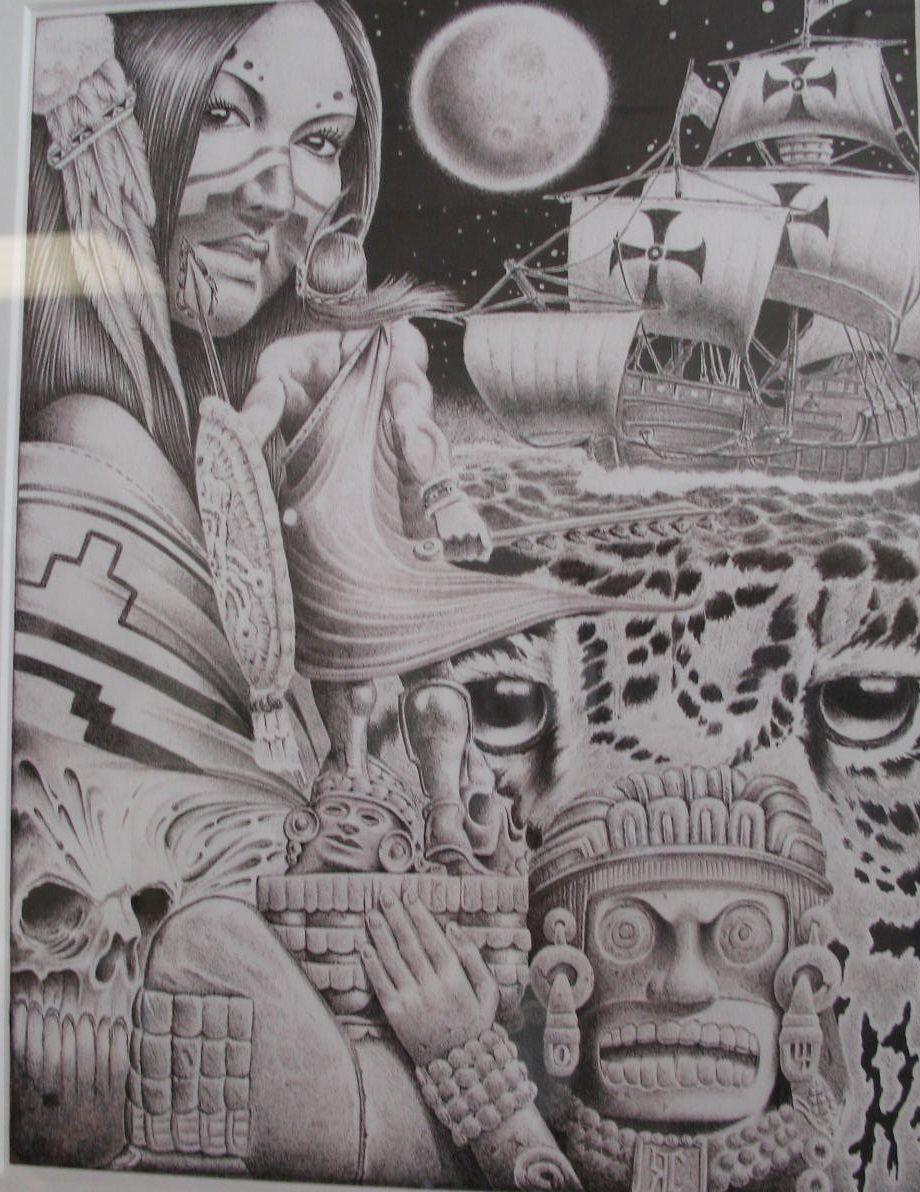 Mexican Aztec Art | Swapmeet Chronicles: Prison Arte Pelican Bay