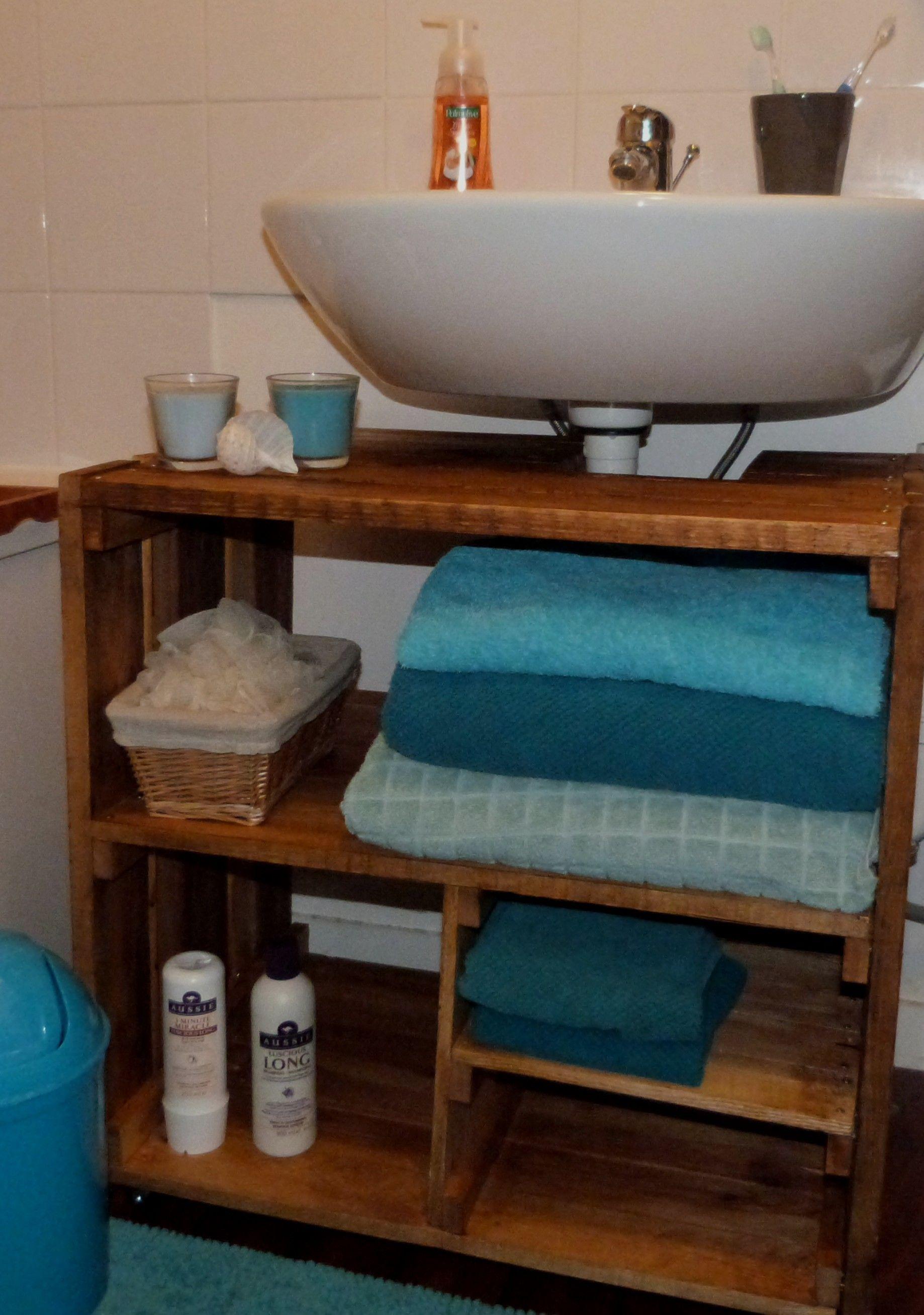 Meuble Sous Vasque En Palettes Fait Par Elo Dy Et Lyndel Meuble Sous Lavabo Meuble Sous Vasque Petit Meuble