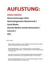 eBooks eingeteilt in Technische Woerterbuecher Mechatronik + Lexika / Glossare Social Media