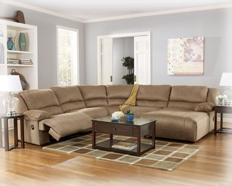 Hogan Mocha Sectional Left Side Chaise Reclining Sectional