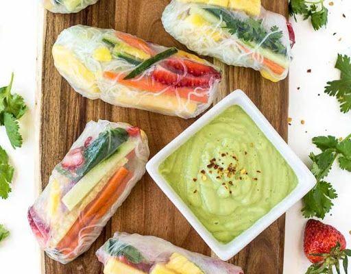 Vegan spring rolls recipe yummly yum pinterest vegan spring rolls recipe yummly forumfinder Choice Image