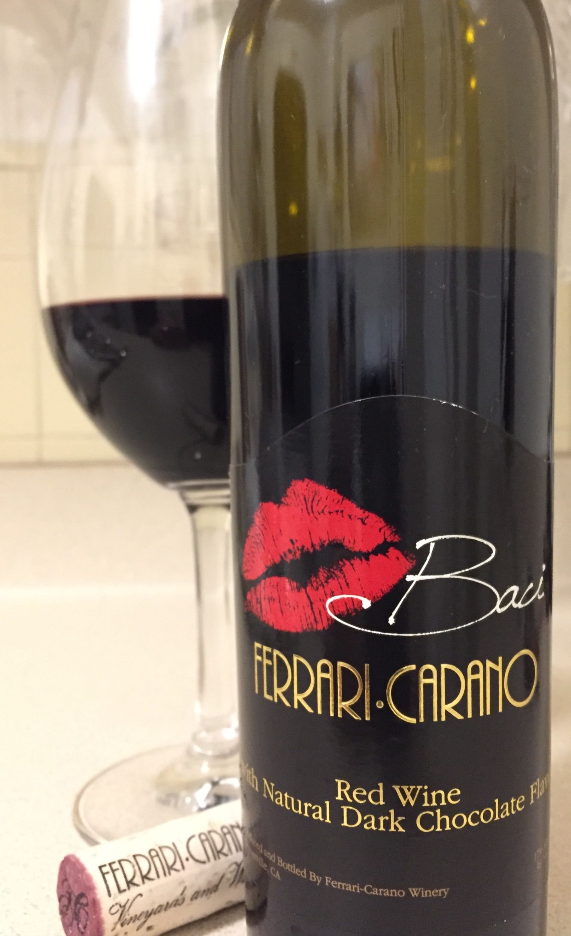 Ferrari Carano Baci Red Wine With Natural Dark Chocolate Flavor Tasting Notes Deep Purple With Rich Notes Of Chocolate Covered Blueberries Red Wine Wine