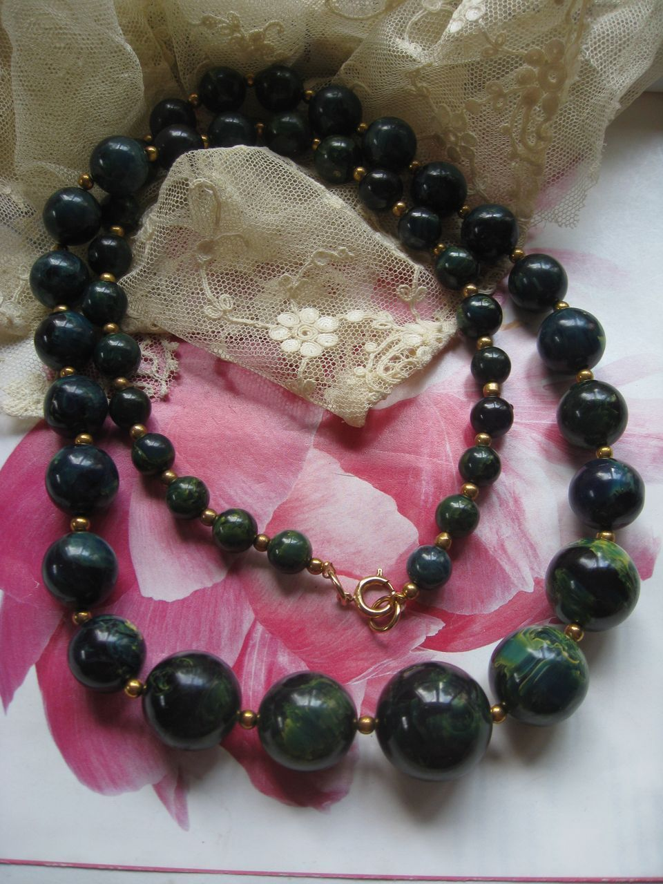 End of Day Bakelite Necklace