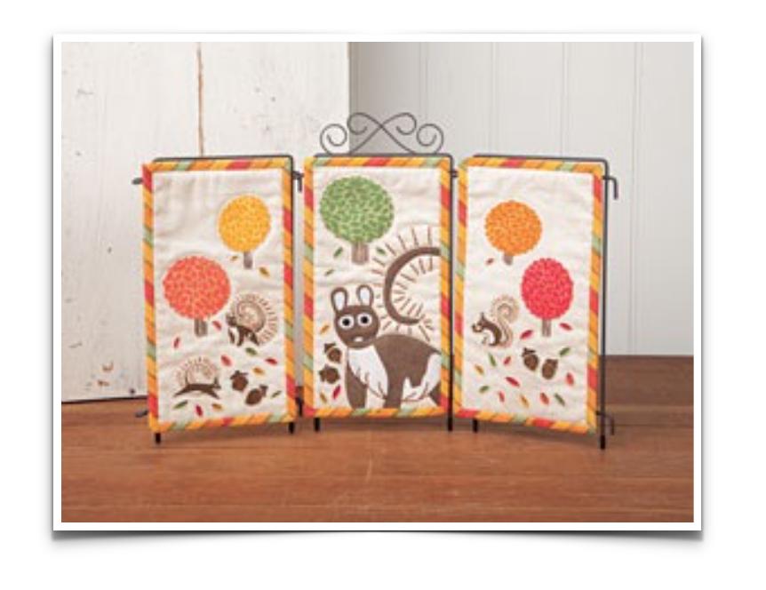 Free Quilt Pattern: Acorn Park Triptych
