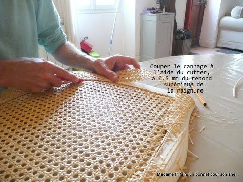 Tutoriel En Images Pour Refaire Le Cannage D Une Chaise Youtube Cannage Chaise Cannage Canage Chaise