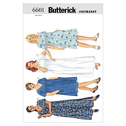 Butterick Sewing Pattern 6601 - Ladies Plus Size Dress Si... https ...