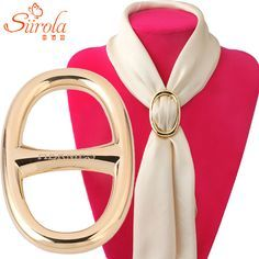 Online Shop SIIROLA Vogue Simple Men Women Brooch Ornament Copper & Pure gold color Letter H Carriage Hijab Shawl Scarf Scarves Buckle Clips | Aliexpress Mobile