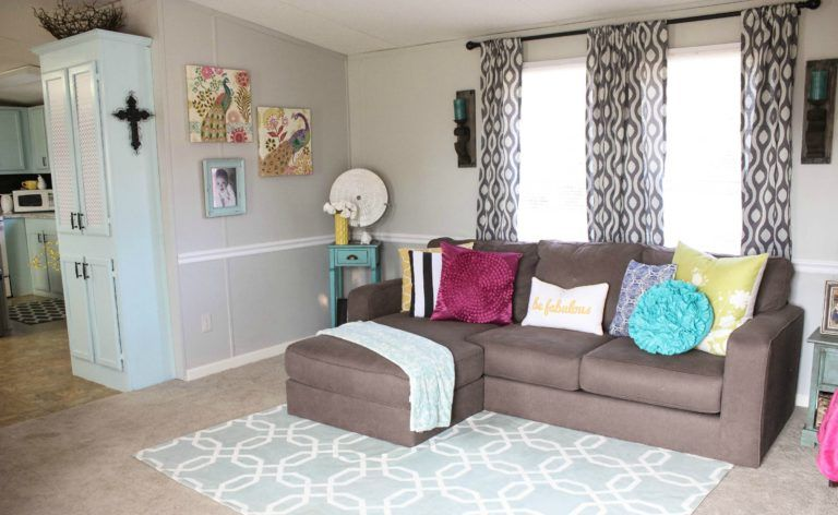 Mobile Home Living Room Reveal   Re Fabbed   Mobile home living, Living room reveal, Home living ...