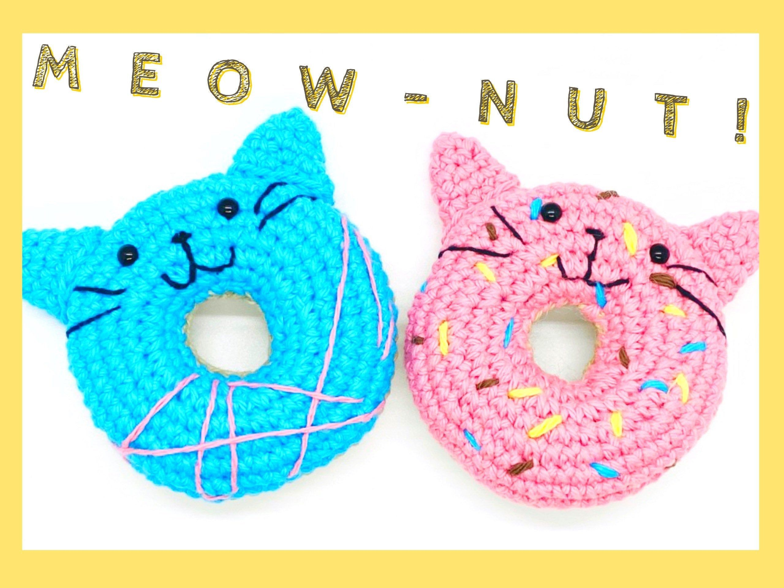 Crochet Cat Pattern PDF Cat Plushie Amigurumi Crochet Toy Donut Cute AmigurumiCrochet Kitty PatternHandmade gift for cat lovers!