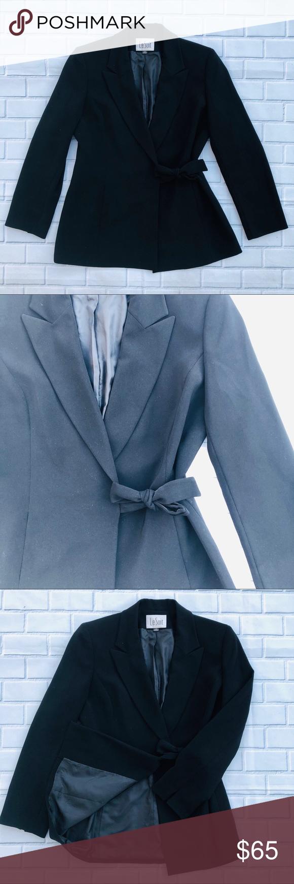 Le Suit Blazer Dress Jacket Size 8 Black Polyester In 2021 Black Dress Jacket Jacket Dress Dressy Jackets [ 1740 x 580 Pixel ]
