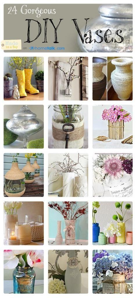 DIY Tall Glass Vases #vaseideen