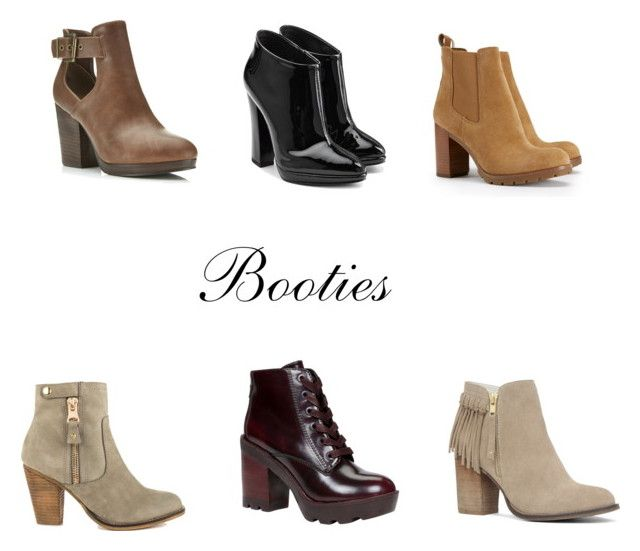 Booties. by jeanette-tinoco on Polyvore featuring Giuseppe Zanotti, Tory Burch, ALDO and Miss Selfridge