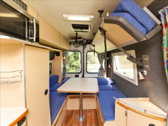 Bunk Bed Folded Up Fiat Ducato Campervan Camper Van Conversion