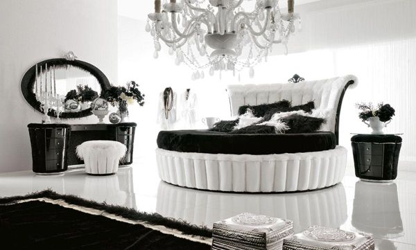 Pin On For The Home Black and white luxury bedroom