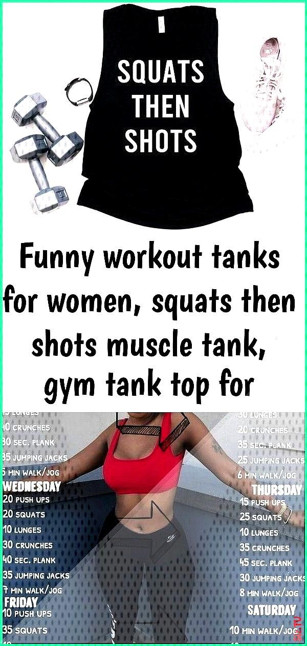Funny workout tanks for women squats then shots muscle tank gym tank top for women 2 Funny workout