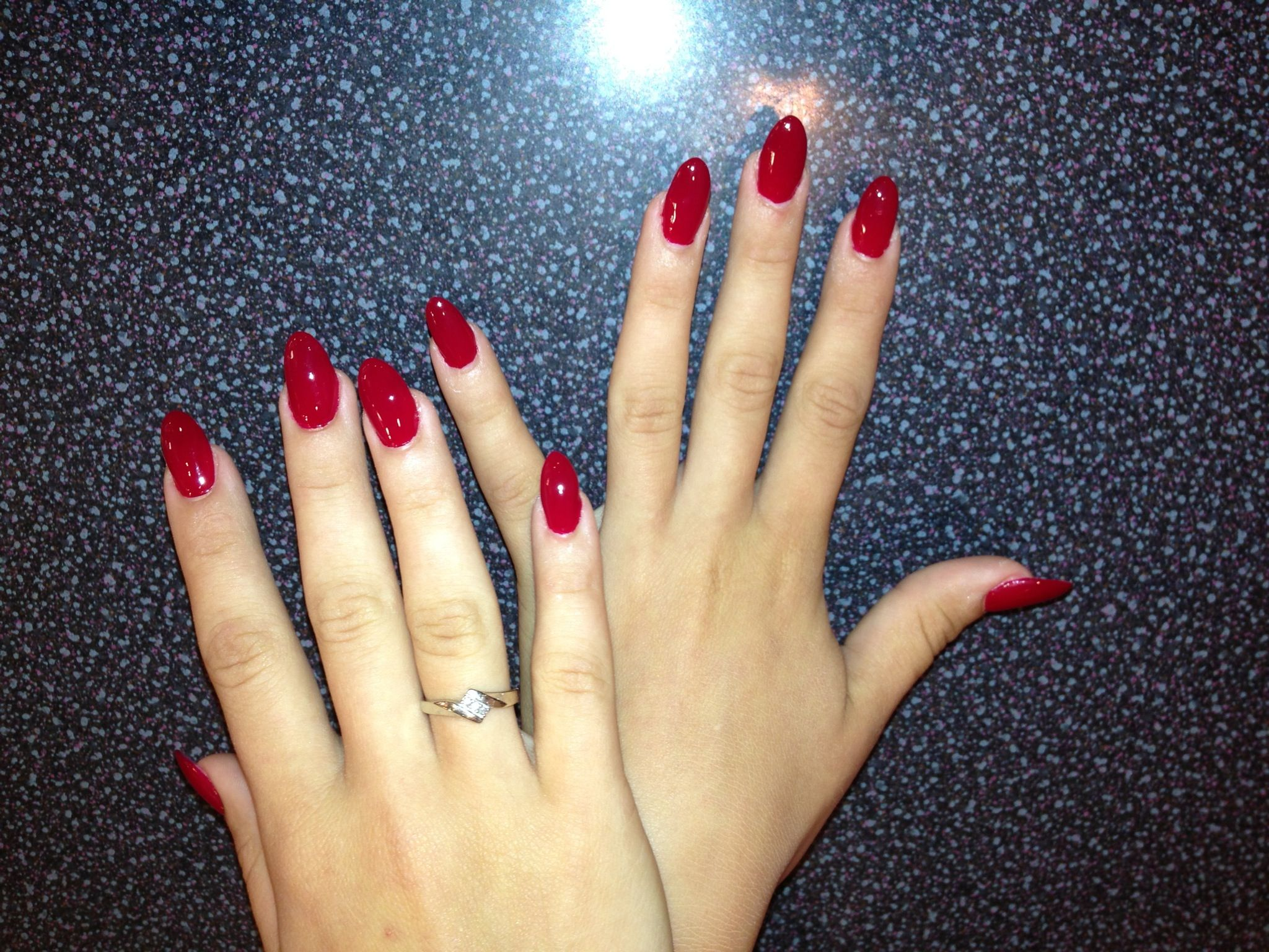 Pointed acrylic nails | Pretty Shades | Pinterest | Double team ...