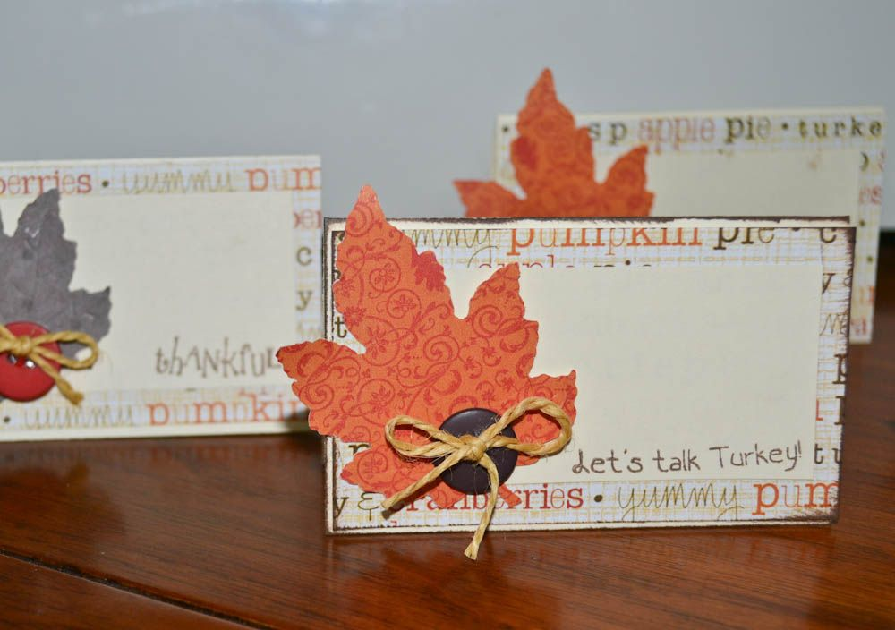 Ideas For Thanksgiving Cards To Make Part - 18: Thanksgiving Is Getting Close, I Thought I Would Post A Quick And Easy Way  To Make Place Cards For Your Table Settings. These Are Simple Tent Fold  Cards,