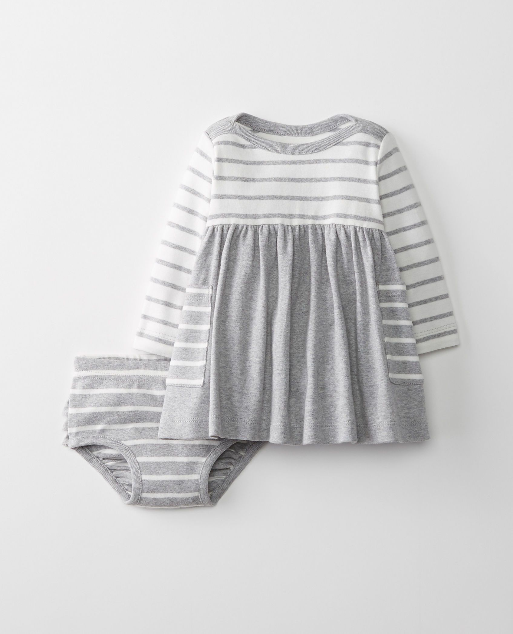 Hanna Andersson Baby//Toddler Bright Basics Dress in Organic Cotton