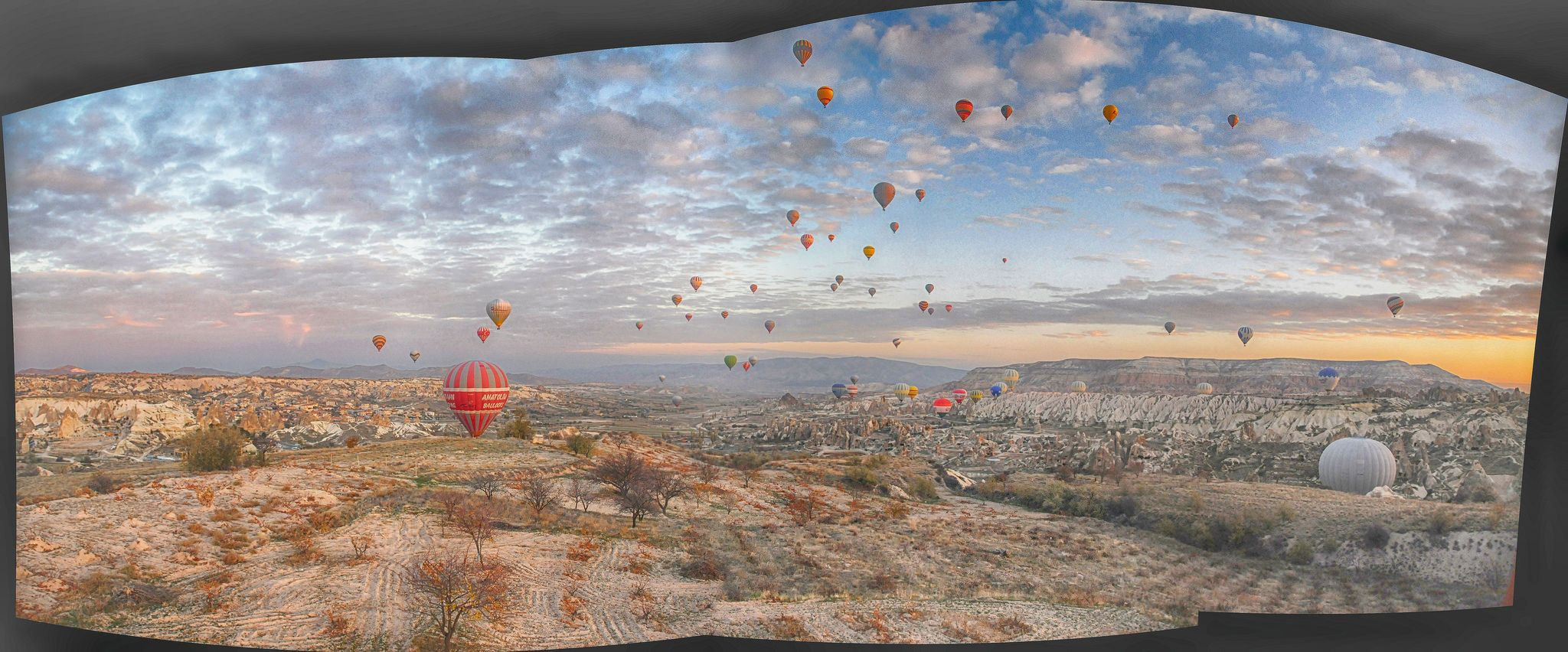 Dawn flight over Cappadocia   by Pknyn