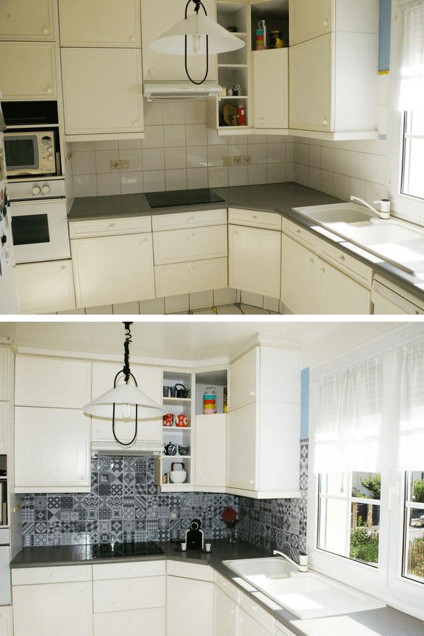 Faux Carrelage Vrai Test Notre Avis Sur La Credence Adhesive Smart Tiles Credence Adhesive Decoration Mur Interieur Cuisines Deco