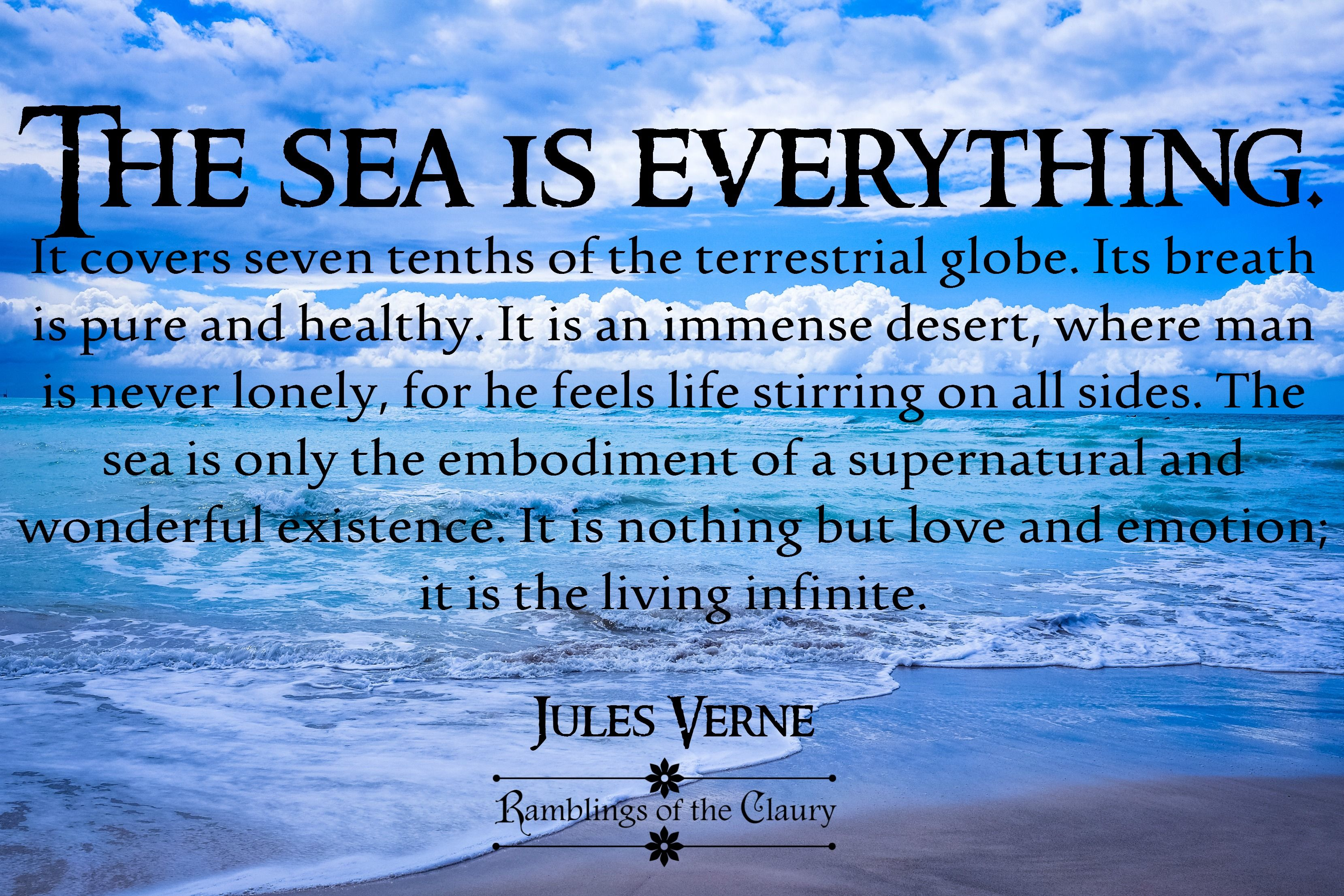 World Oceans Day Living Infinite Mother Nature Quotes Nature Quotes Oceans Of The World