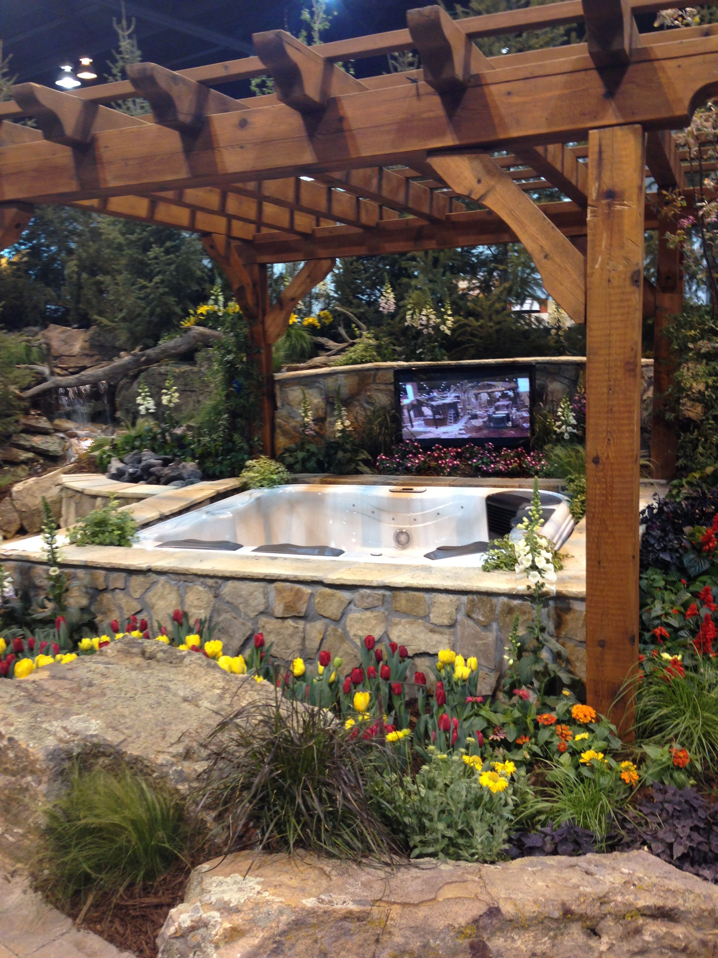 RMPW Exhibit At The Colorado Home And Garden Show In Denver, CO. Plan Your  Dream Backyard, Complete With A Hot Tub And Pergula.