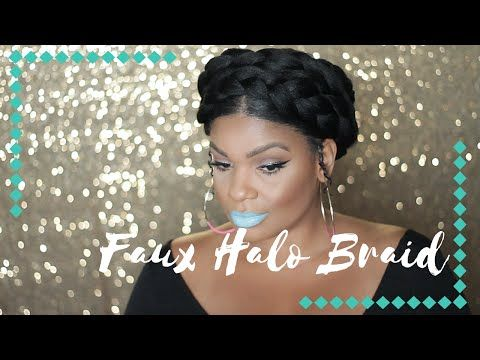 How To Easy Goddess Crown Halo Braid Tutorial Natural Hair Using