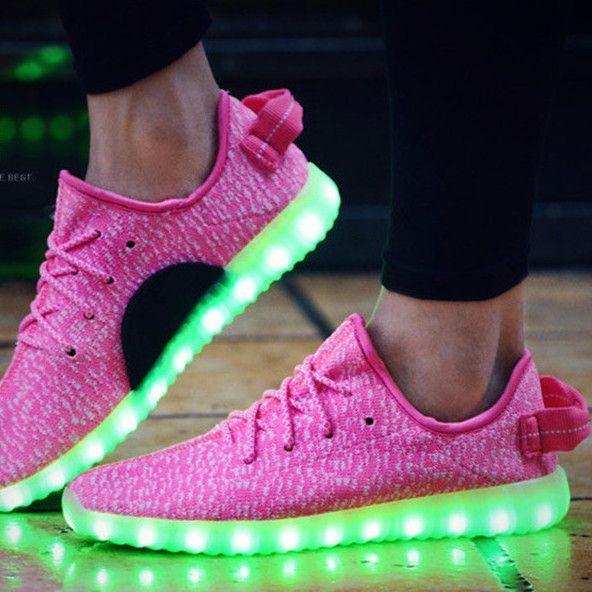 Women s LED Light Up Trainers Women Pink  adac04217