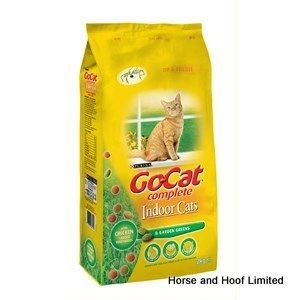 Go-Cat Comp Indoor Cat Food 2kg Go-Cat Comp Indoor is a 100 complete balanced meal With fibres to aid digestion and help reduce hairballs your indoor  cat may develop through frequent grooming.