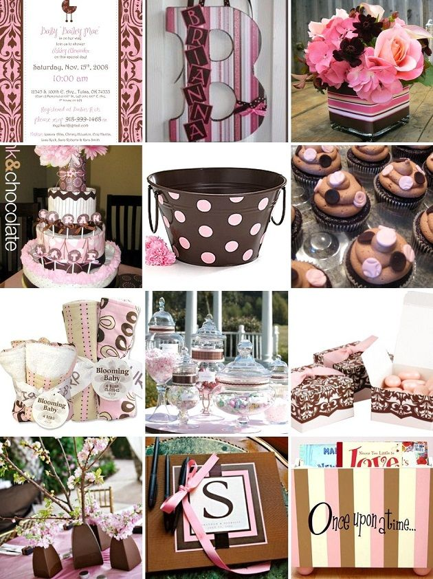 Pink Brown Shower Inspiration Party Ideas Baby Shower Baby