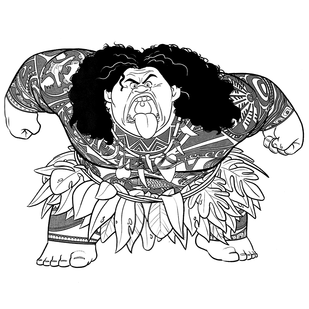 It's just a photo of Fan Maui Coloring Pages