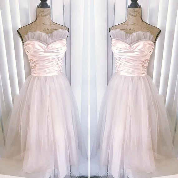 Vintage 1950\'s Pink Cupcake Party Prom Dress Full Skirt | Fashion ...